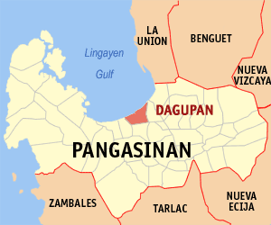 Dagupan City in a map